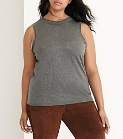 Lauren Ralph Lauren® Plus Size Beaded Silk-Blend Top