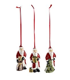 Villeroy & Boch® Set of 3 Santa Ornaments
