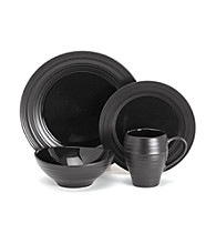 Mikasa® Swirl Black 4-pc. Place Setting