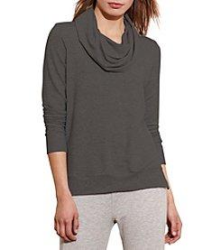 Lauren Active® Jersey Cowlneck Pullover