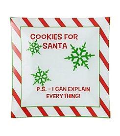 Pfaltzgraff® Santa Cookies Platter