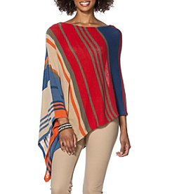 Chaps® Striped Linen-Cotton Poncho