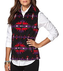 Chaps® Patterned Fleece Vest