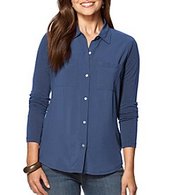 Chaps® Jersey Button Down Shirt