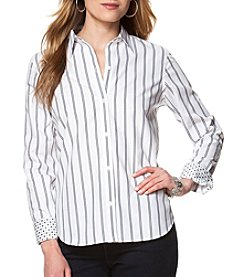 Chaps® Non-Iron Striped Cotton Shirt