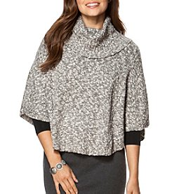 Chaps® Cotton-Blend Sweater Poncho