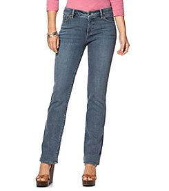 Chaps® Salem-Wash Stretch Straight Jeans
