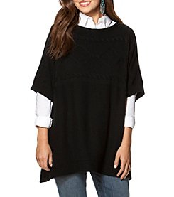Chaps® Cable-Knit Poncho