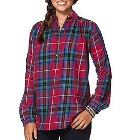 Chaps® Long Sleeve Plaid Twill Shirt