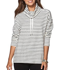 Chaps® Striped Funnelneck Pullover