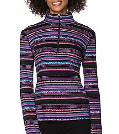 Chaps® Long Sleeve Striped Cotton Pullover