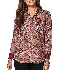 Chaps® Non-Iron Paisley Sateen Shirt