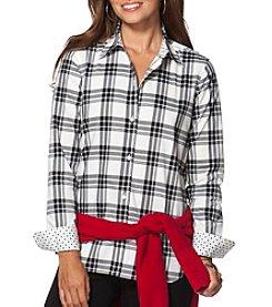 Chaps® Non-Iron Plaid Cotton Shirt
