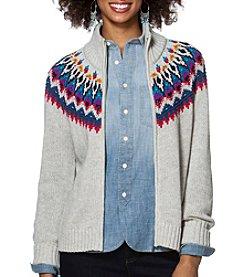Chaps® Fair Isle Full-Zip Sweater