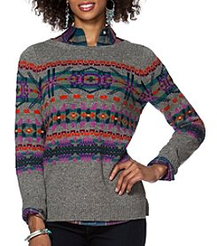 Chaps® Oversized Fair Isle Sweater