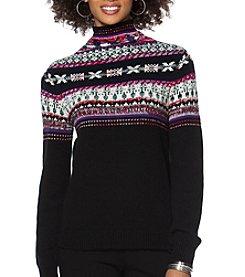 Chaps® Fair Isle Mockneck Sweater