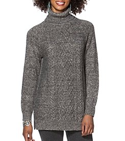 Chaps® Cable-Knit Turtleneck Sweater