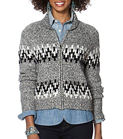 Chaps® Ski Patterned Full-Zip Sweater