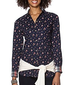 Chaps® Floral Button-Up Shirt