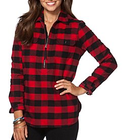 Chaps® Buffalo Check Twill Pullover Shirt