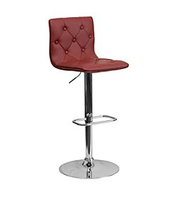 Flash Furniture Tufted Vinyl Adjustable Height Barstool