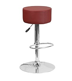 Flash Furniture Backless Round Adjustable Height Barstool