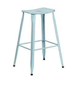 Flash Furniture Distressed Metal Indoor-Outdoor Barstool