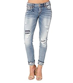Silver Jeans Co. Destructed Girlfirend Jeans