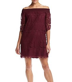 Trixxi® Lace-Off Shoulder Dress