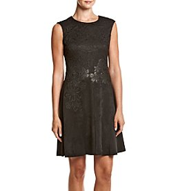 Calvin Klein Embroidered Fit And Flare Dress