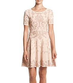 Ivanka Trump® Fit And Flare Sweater Dress