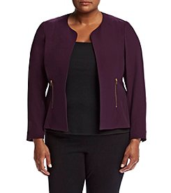 Calvin Klein Plus Size Zip Pocket Jacket
