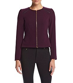 Calvin Klein Petites' Color Block Zip Jacket