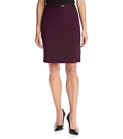 Calvin Klein Petites' Belted Straight Skirt