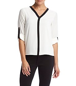 Calvin Klein Petites' Roll Sleeve Top