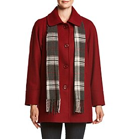 Forecaster Single Breasted A-Line Scarf Coat