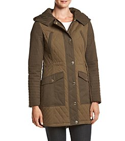 GUESS Two Tone Quilted Anorak Coat