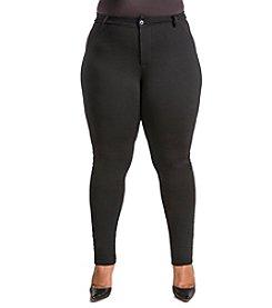 Poetic Justice® Plus Size Curvy Slim Leg Ponte Pants
