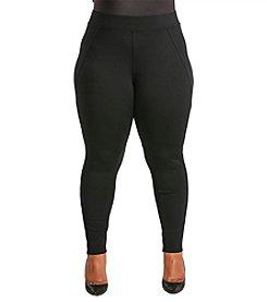 Poetic Justice® Plus Size Michelle Curvy Ponte Pants