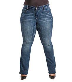 Poetic Justice® Plus Size Jennifer Curvy Flare Jeans