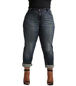 Poetic Justice® Plus Size Verla Curvy True Boyfriend Jeans