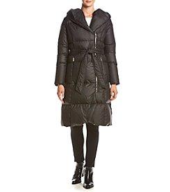 Ivanka Trump® Asymmetrical Zip Belted Maxi Coat
