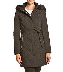 Ivanka Trump® Quilt Sleeve Belted Coat