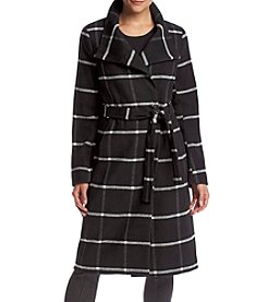 Ivanka Trump® Funnelneck Plaid Coat