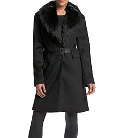 Ivanka Trump® Faux Fur Collar Toggle Coat