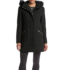 Ivanka Trump® Zip Up Anorak With Faux Fur Hood