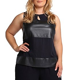 Standards & Practices Plus Size Blake Sleeveless Keyhole Top