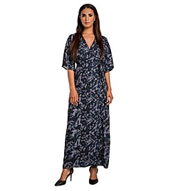 Standards & Practices Olivia Camo Wrap Dress
