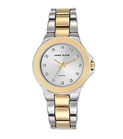 Anne Klein® Diamond Dial Two-Tone Bracelet Watch