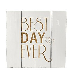 Cathy's Concepts Best Day Ever Wood Art Guest Book